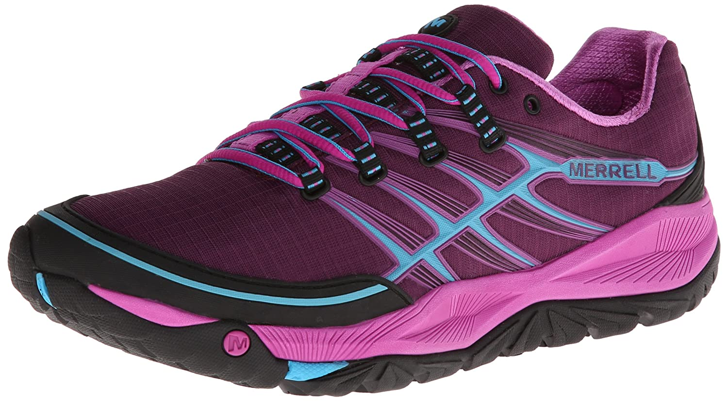 Merrell Women's All Out Rush Trail Running Shoe B00D1PDS00 6 B(M) US|Purple/Horizon Blue