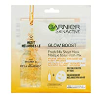 Garnier SkinActive Glow Boost Fresh-Mix Sheet Mask with Vitamin C, for all skin...