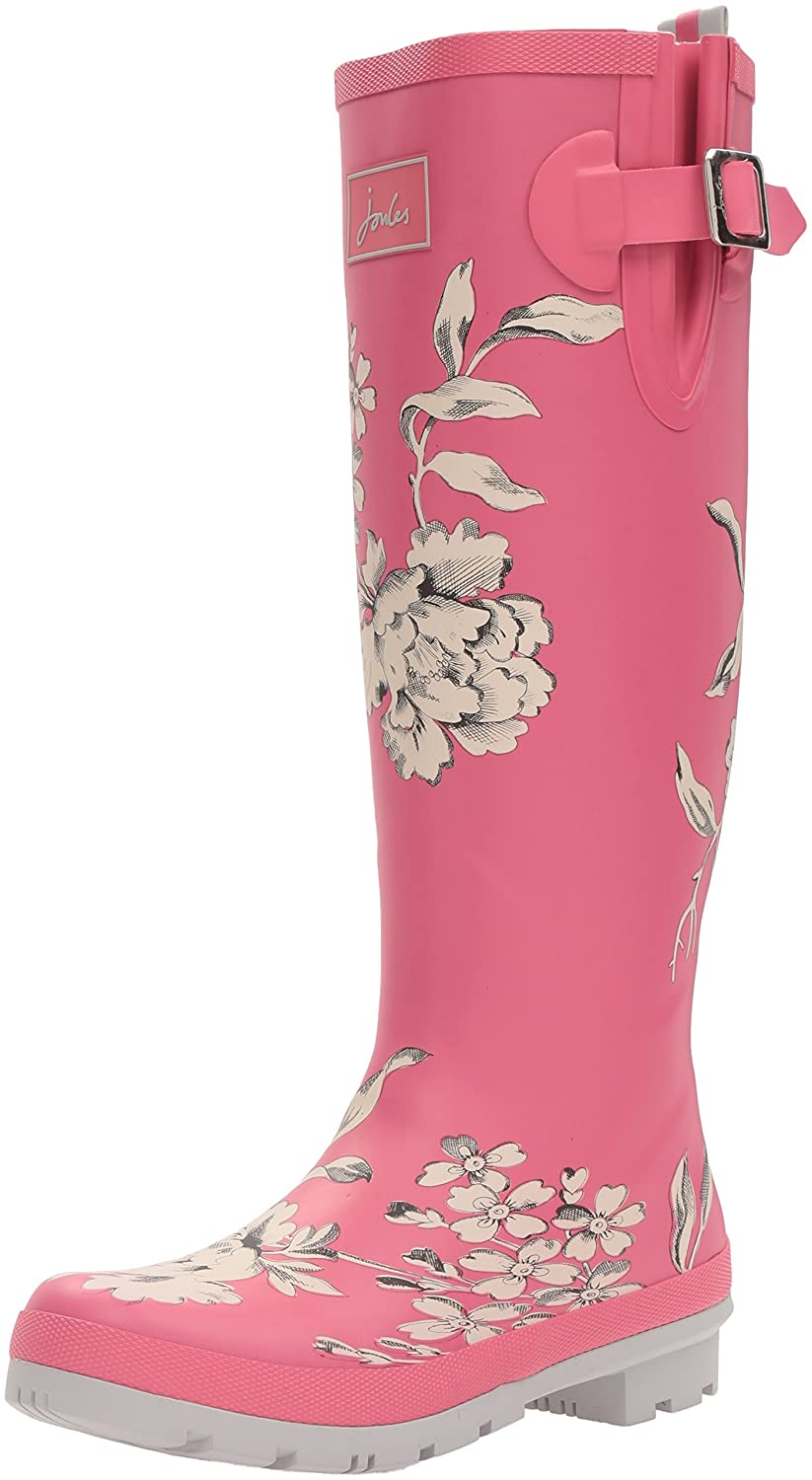 Joules Women's Welly Print Rain Boot B015PIFMG8 10 B(M) US|True Pink Floral