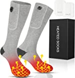 Heated Socks,Heated Socks for Men Women,2020 Upgraded Rechargeable Electric Socks with