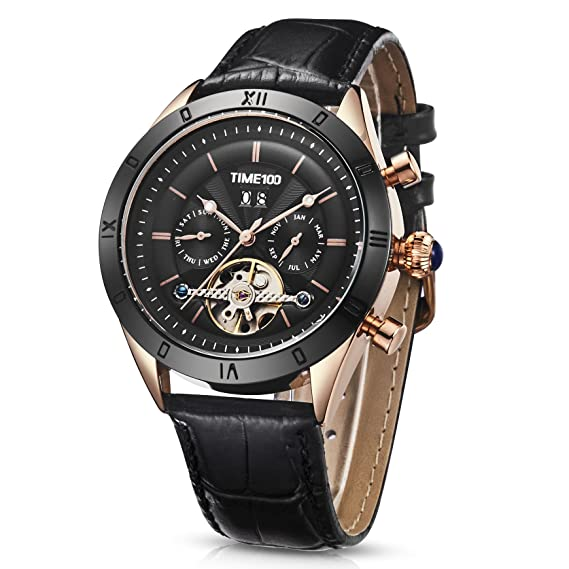 Time100 2018 reloj hombre pulsera Reloj mecánico automático resistente al agua 5 Bar (22)