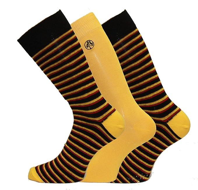 Calcetines Alexander Green para hombre, calcetines de vestir, diseño a rayas, tallas