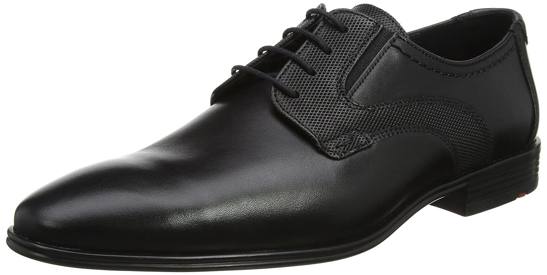 Lloyd Kobolt Extra-Weit, Zapatos de Cordones Derby para Hombre 48 EU|Schwarz (Schwarz/Blue)