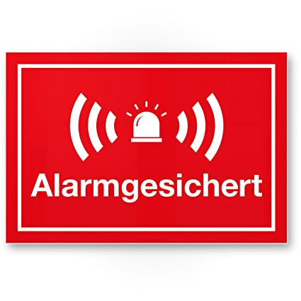 Alarma gesic Hert Cartel (Rojo 30 x 20 cm) - Atención ...
