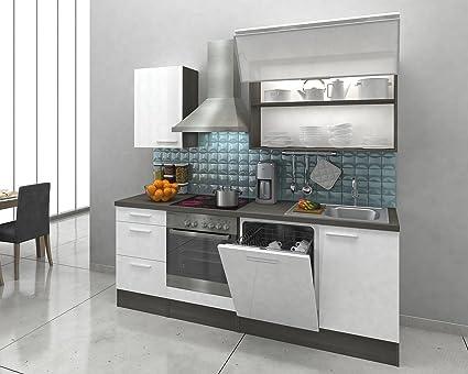 Respekta Premium Incasso cucina cucina riga 220 cm Rovere Bianco ...