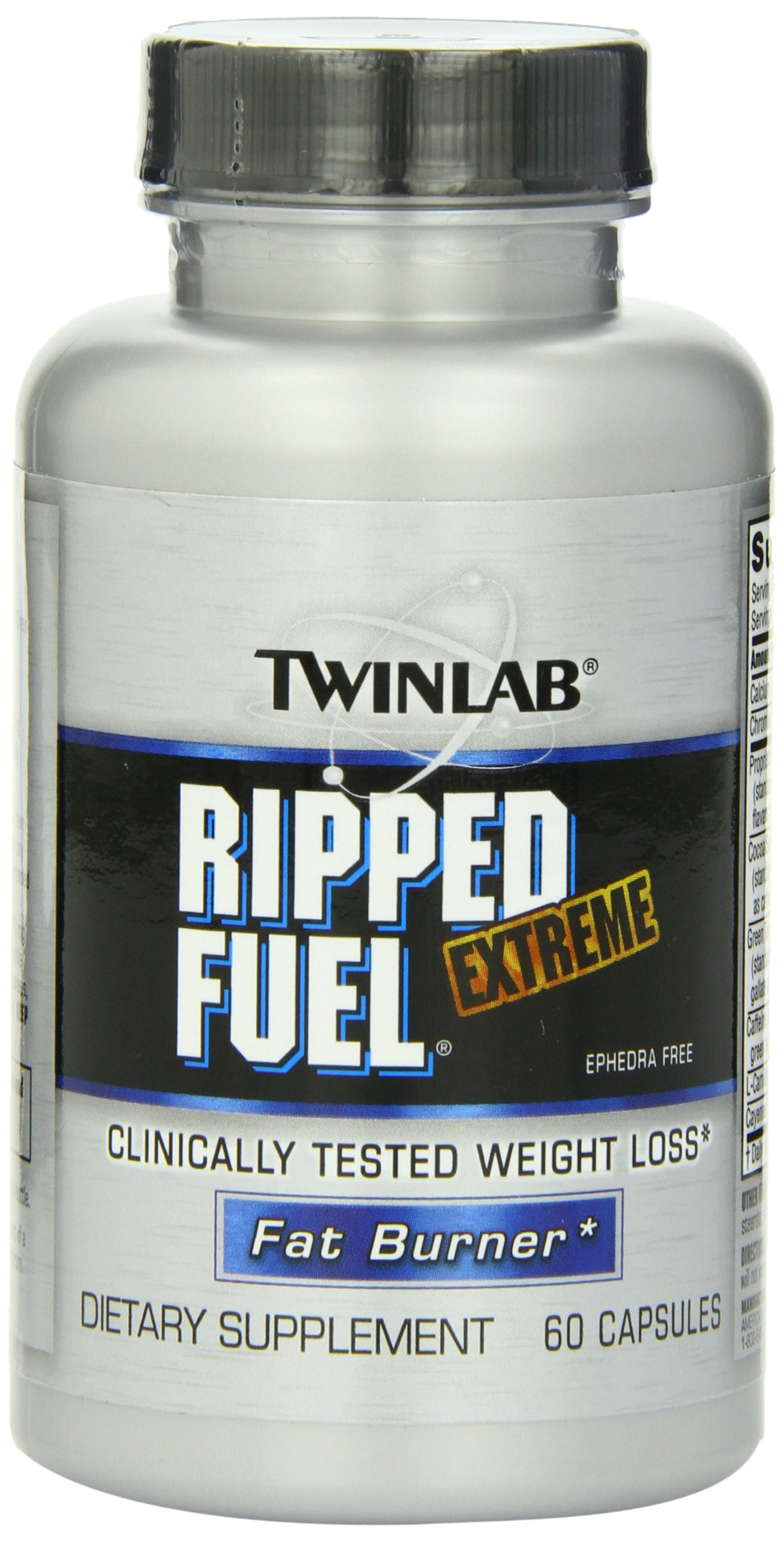 Twinlab Ripped Fuel Extreme Fat Burner, Ephedra Free, 60 Capsules by Twinlab