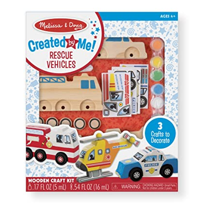 Amazon melissa doug decorate your own wooden rescue vehicles melissa doug decorate your own wooden rescue vehicles craft kit police car junglespirit Gallery