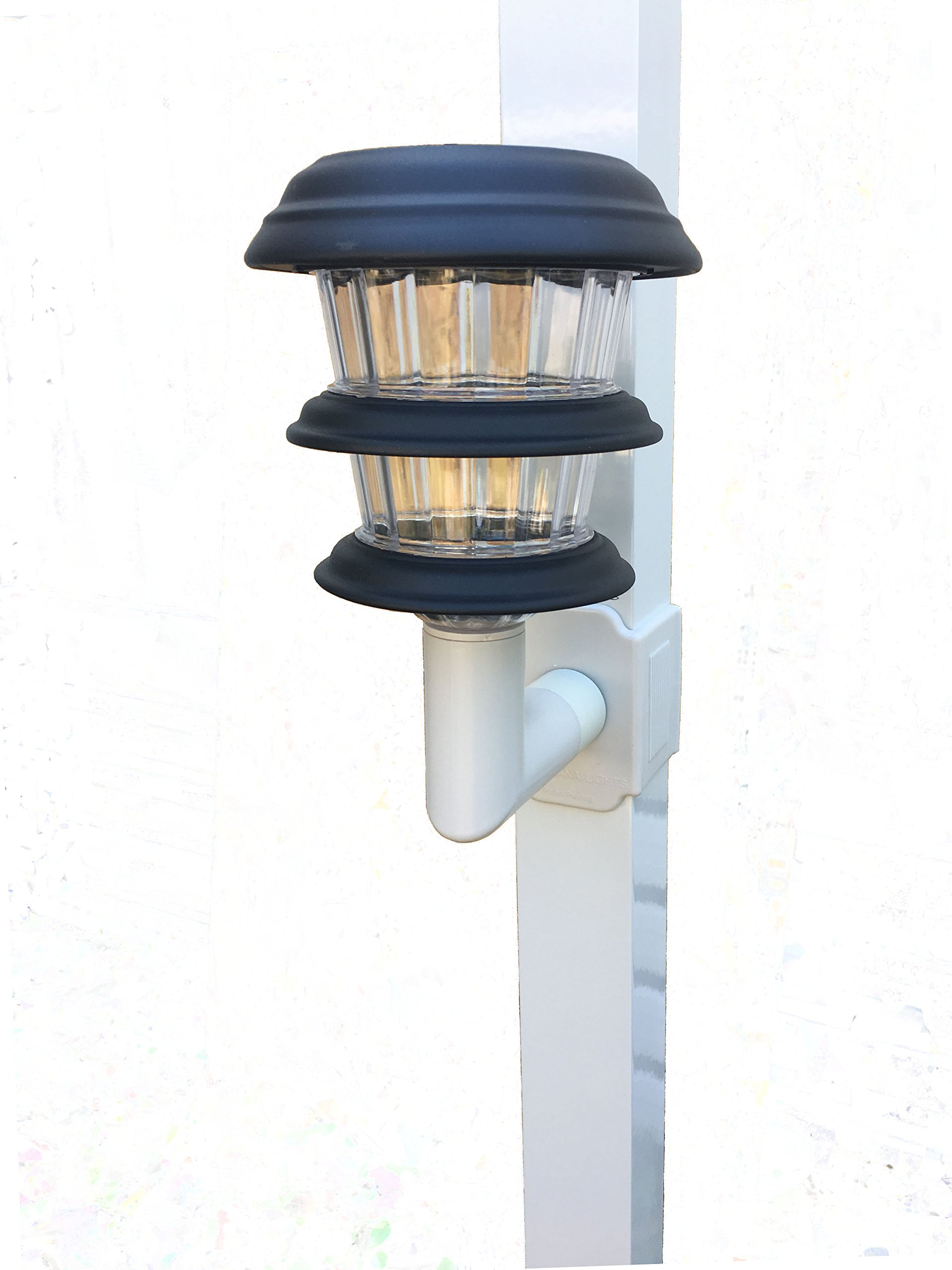 Solar Lanai Lights 1 Light Per Package. Brightness of light- 10 Lumens for Patio's, Screen Enclosures and Pool Cage Lighting