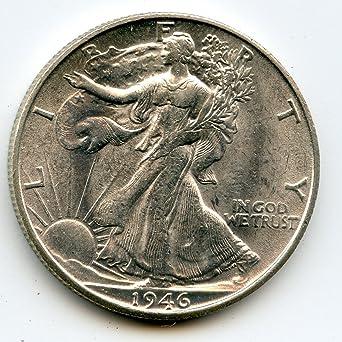 1946-S 50c Liberty Walking Silver Half Dollar VF Very Fine