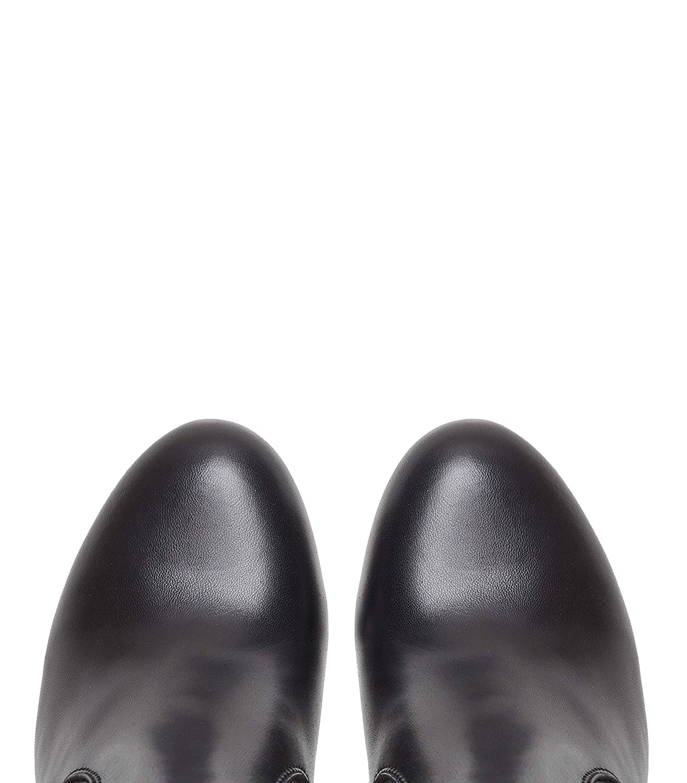 Poi Poi Poi Lei Damen-Schuhe Langschaftstiefel Elva Schwarz Blockabsatz Leder 2943cf