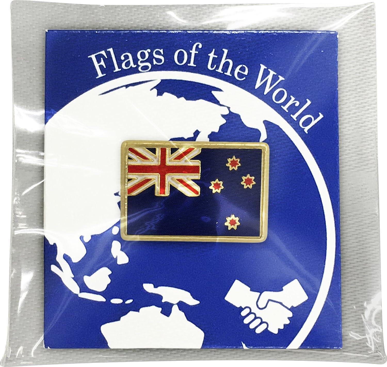 eb88532d4703 Amazon | 世界の国旗 ピンバッジ Sサイズ 8×12mm:ニュージーランド | バッジ | ホビー