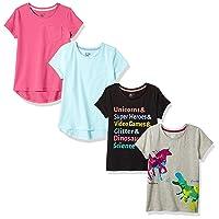 Amazon Brand - Spotted Zebra Girls' Short-Sleeve T-Shirts
