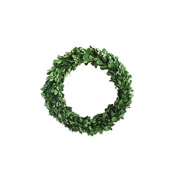 Creative Co-op DA5559 Round Preserved Boxwood Wreath
