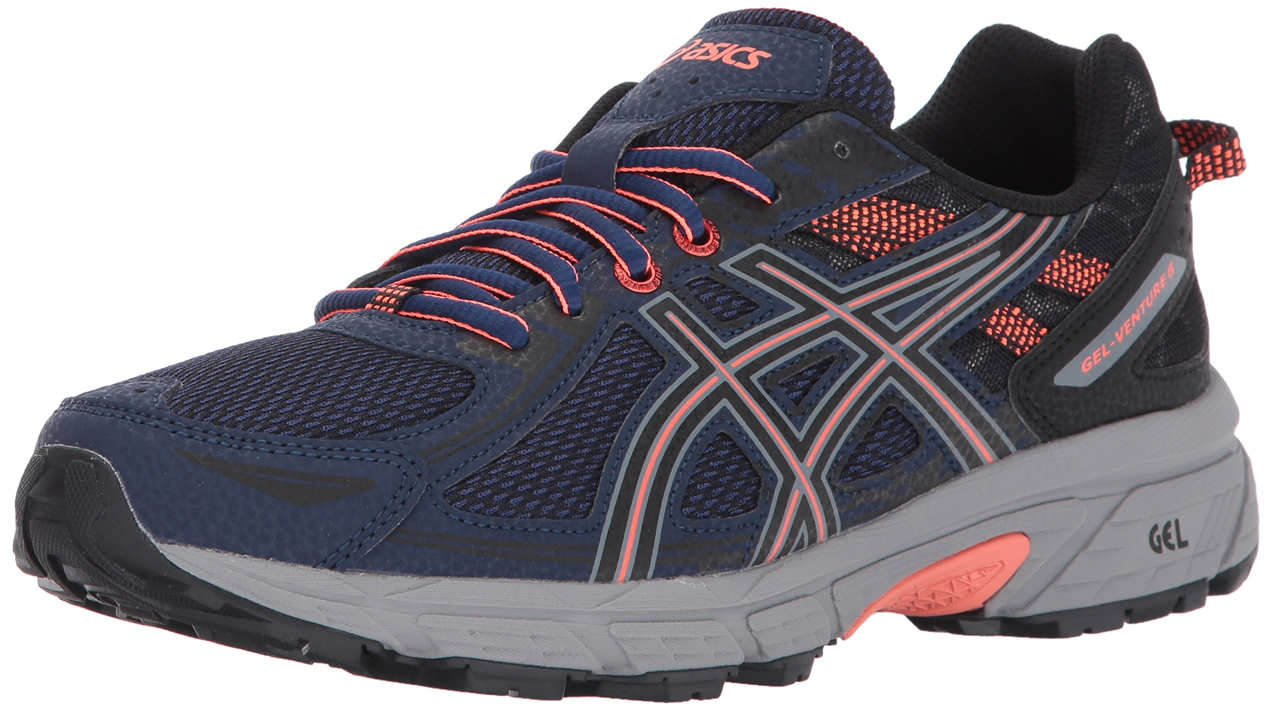 ASICS Women's Gel-Venture 6 Running-Shoes,Indigo Blue/Black/Coral,5 Medium US