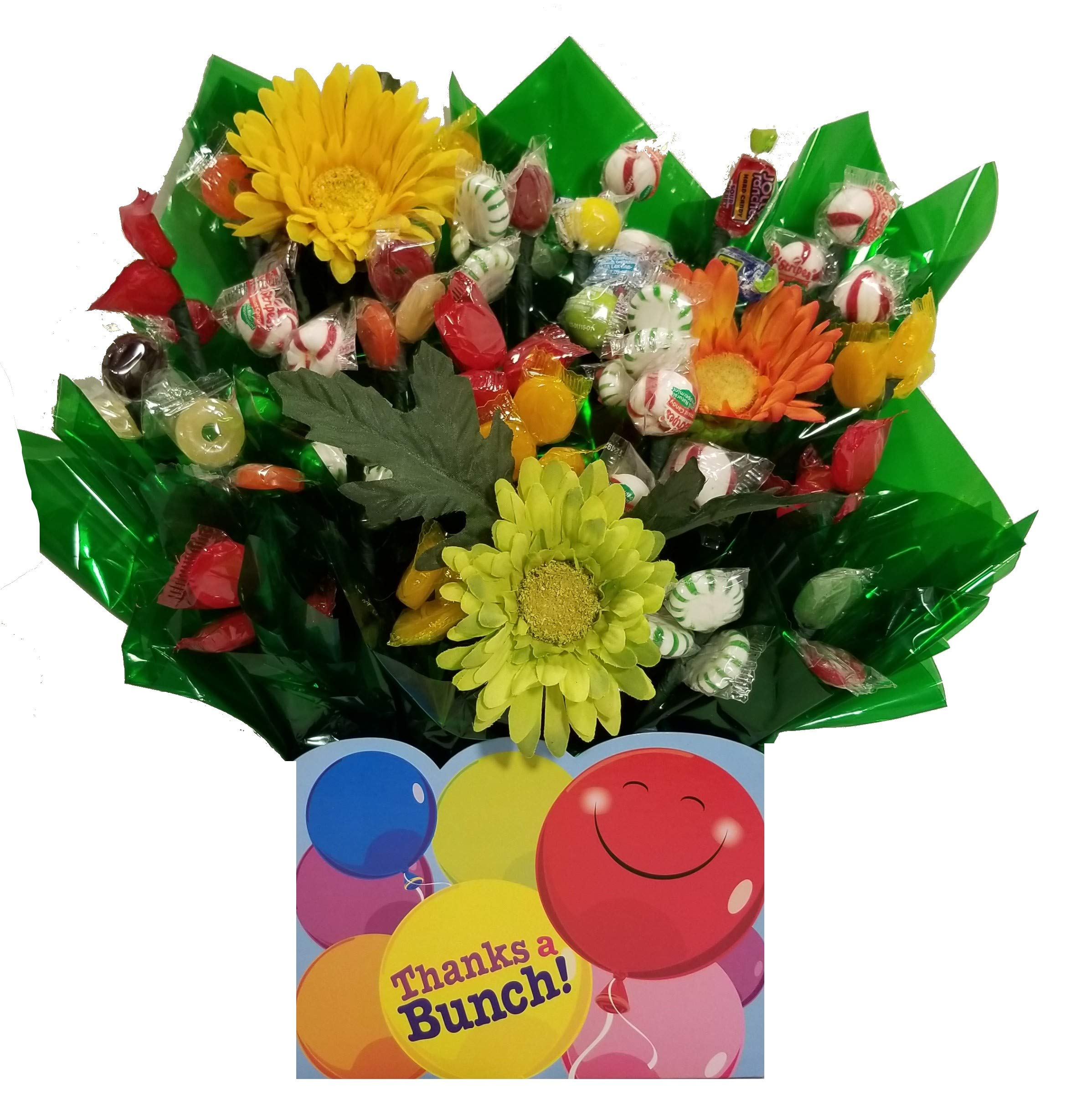 Thanks A Bunch Gift Box with Hard Candy Bouquet - Great as a Thank You gift or for any occasion (Many OPTIONS available) by So Sweet of You