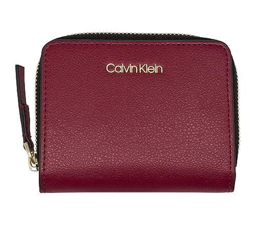 Calvin Klein Frame Medium Zip Wallet Red Rock: Amazon.es ...