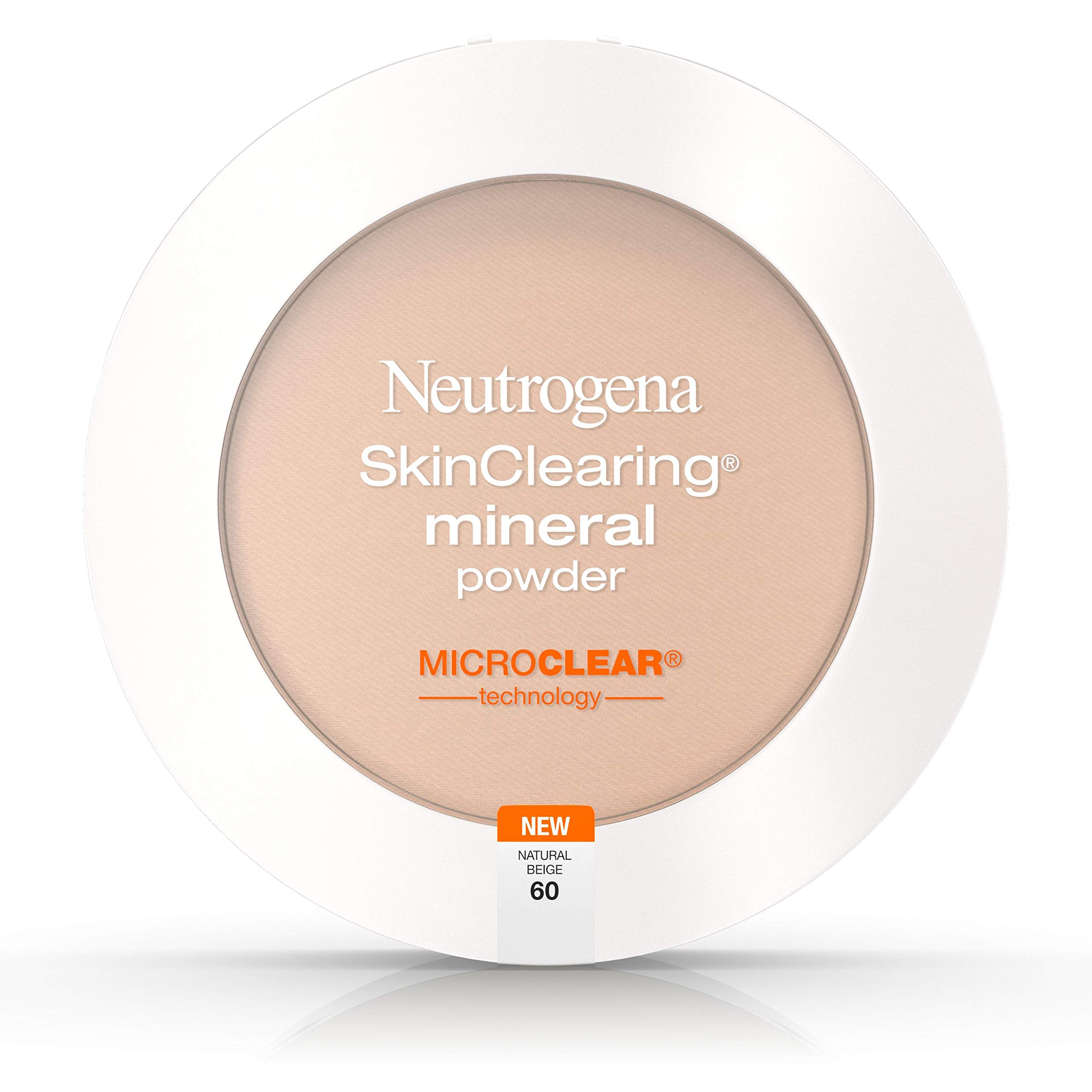 Neutrogena Skinclearing Mineral Powder, Natural Beige 60, .38 Oz. Pack of 2
