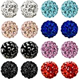 JewelrieShop Women and Girls Fashion Jewelry Rhinestones Crystal Ball Stud Earrings Set, Hypoallergenic, Great Gifts Idea