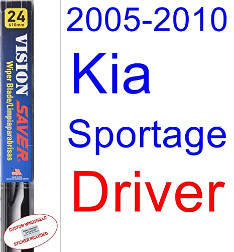 Amazon.com: 2005-2010 Kia Sportage Wiper Blade (Driver) (Saver Automotive Products-Vision Saver) (2006,2007,2008,2009): Automotive