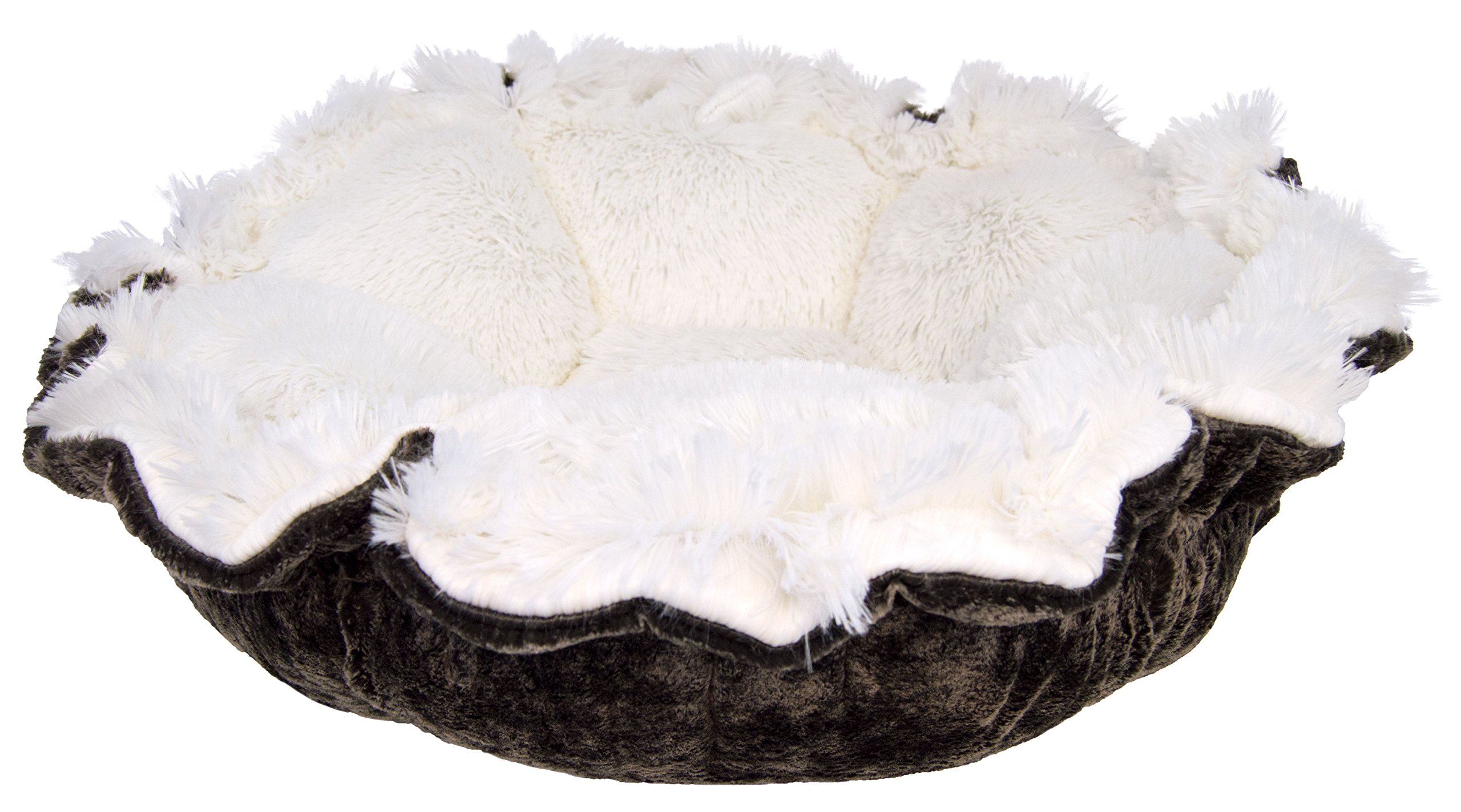 BESSIE AND BARNIE Ultra Plush Koala/Snow White Luxury Shag Deluxe Dog/Pet Cuddle Pod Bed by BESSIE AND BARNIE