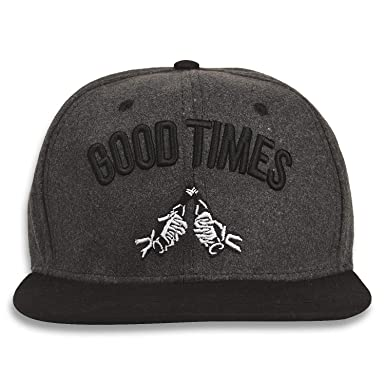 403f439fc85 DRUNKEN Men s Winter Caps Good Times Fleece Snapback Hip Hop Cap Warm Cap  Dark Grey Freesize