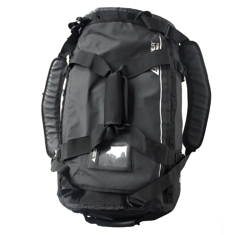 Amazon.com  Leader Accessories Deluxe Water Resistant PVC Tarpaulin Duffel  Bag Backpack 40L 70L 90L  Sports   Outdoors 4be6e05e37e89