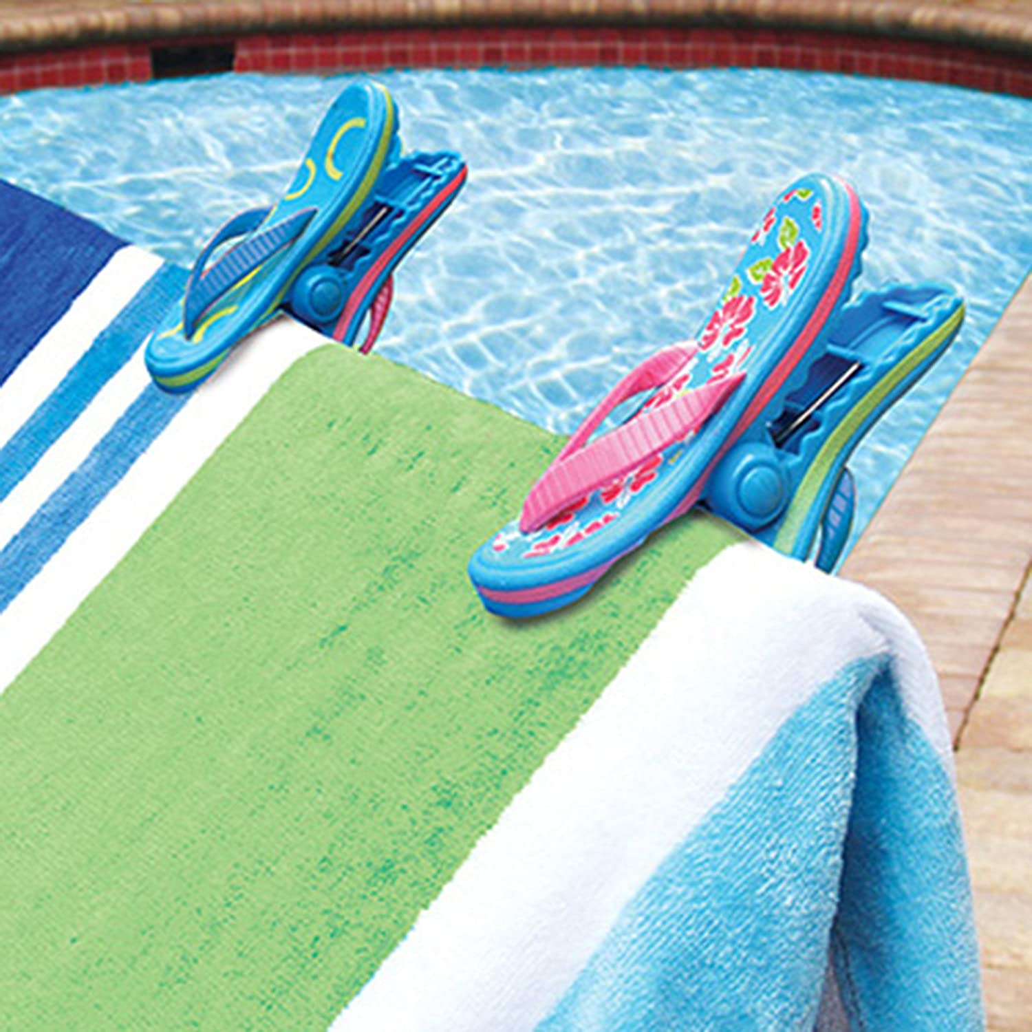 Amazon.com: Flip Flop BocaClips By O2COOL, Beach Towel Holders, Clips, Set  Of Two, Beach, Patio Or Pool Accessories, Portable Towel Clips, Chip Clips,  ...
