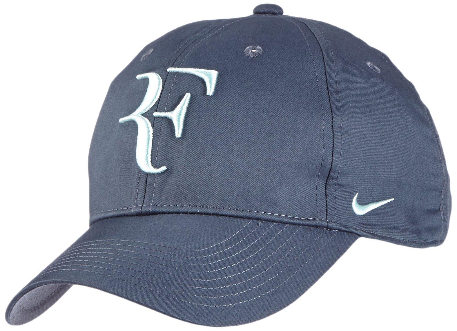 Mens Nike Premier RF Hybrid Adjustable Tennis Hat Blue/Green 371202-443