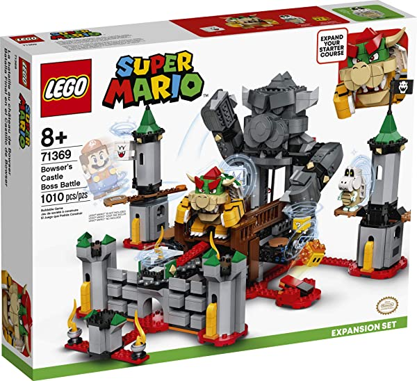 LEGO Super Mario Bowser's Castle Boss Battle building set toy for kids in package