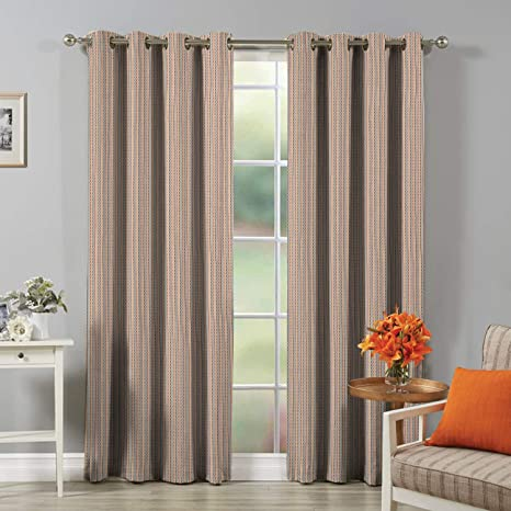 165eaa2cc Buy Soumya 100% Cotton Self Design Multi Color Eyelet Curtain, 1 pc Window  Curtain Online at Low Prices in India - Amazon.in