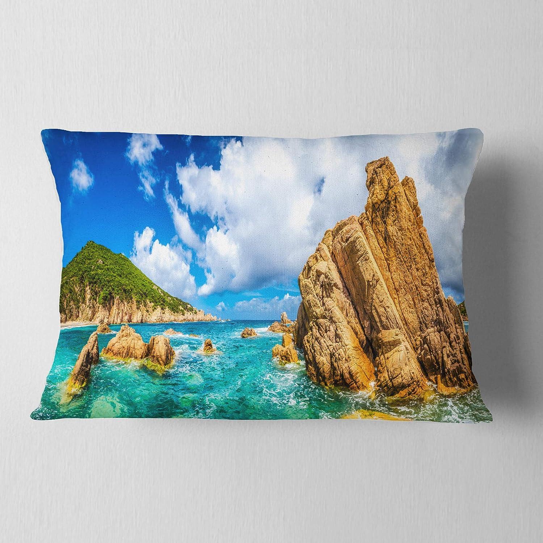 12 X 20 Designart Cu8958 12 20 Costa Paradiso Close View Seashore Photo Throw Lumbar Cushion Pillow Cover For Living Room Sofa Bedding Throw Pillow Covers
