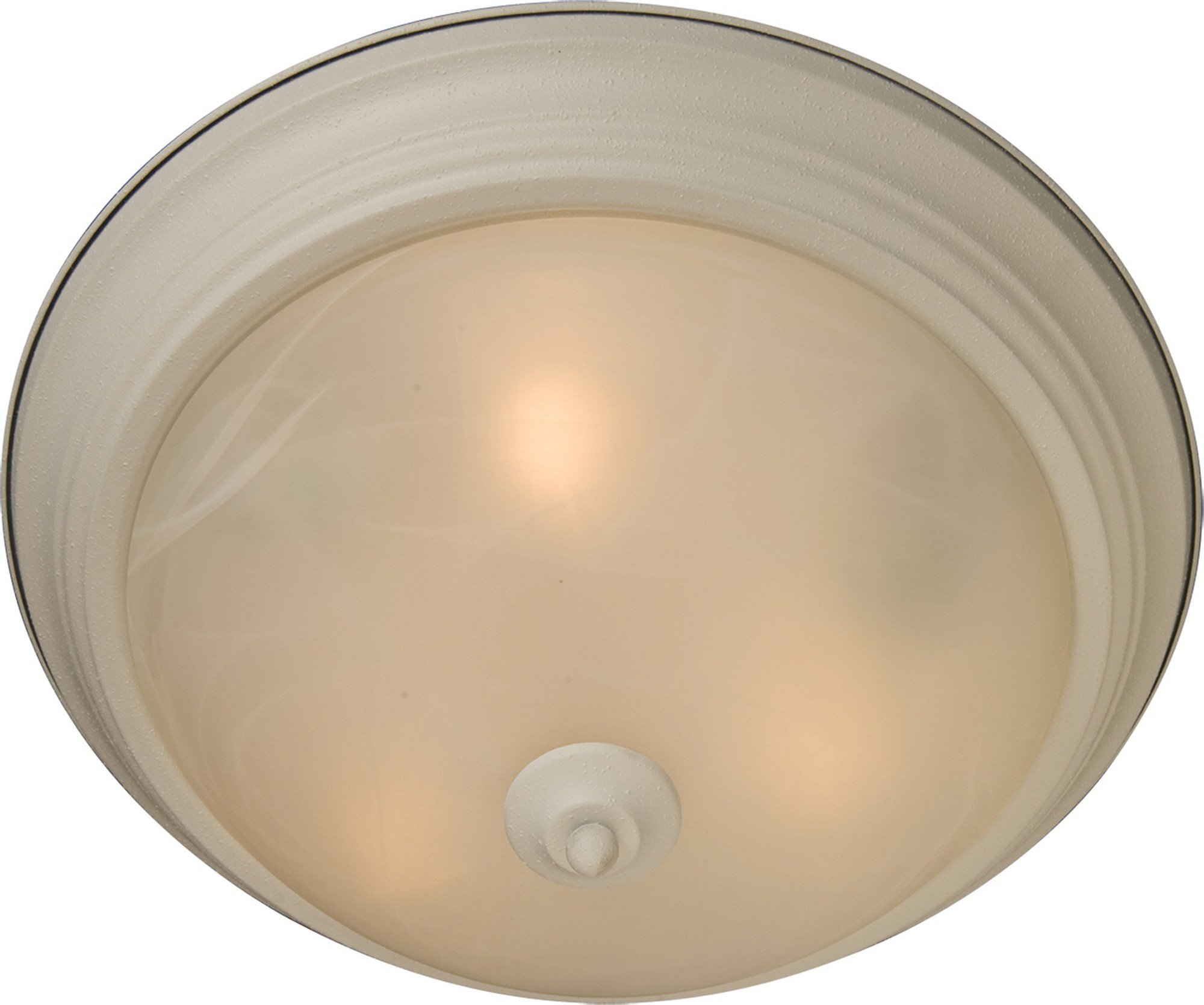 Maxim 5840MRTW Essentials 1-Light Flush Mount, Textured White Finish, Marble Glass, MB Incandescent Incandescent Bulb , 100W Max., Damp Safety Rating, Standard Dimmable, Glass Shade Material, 4600 Rated Lumens