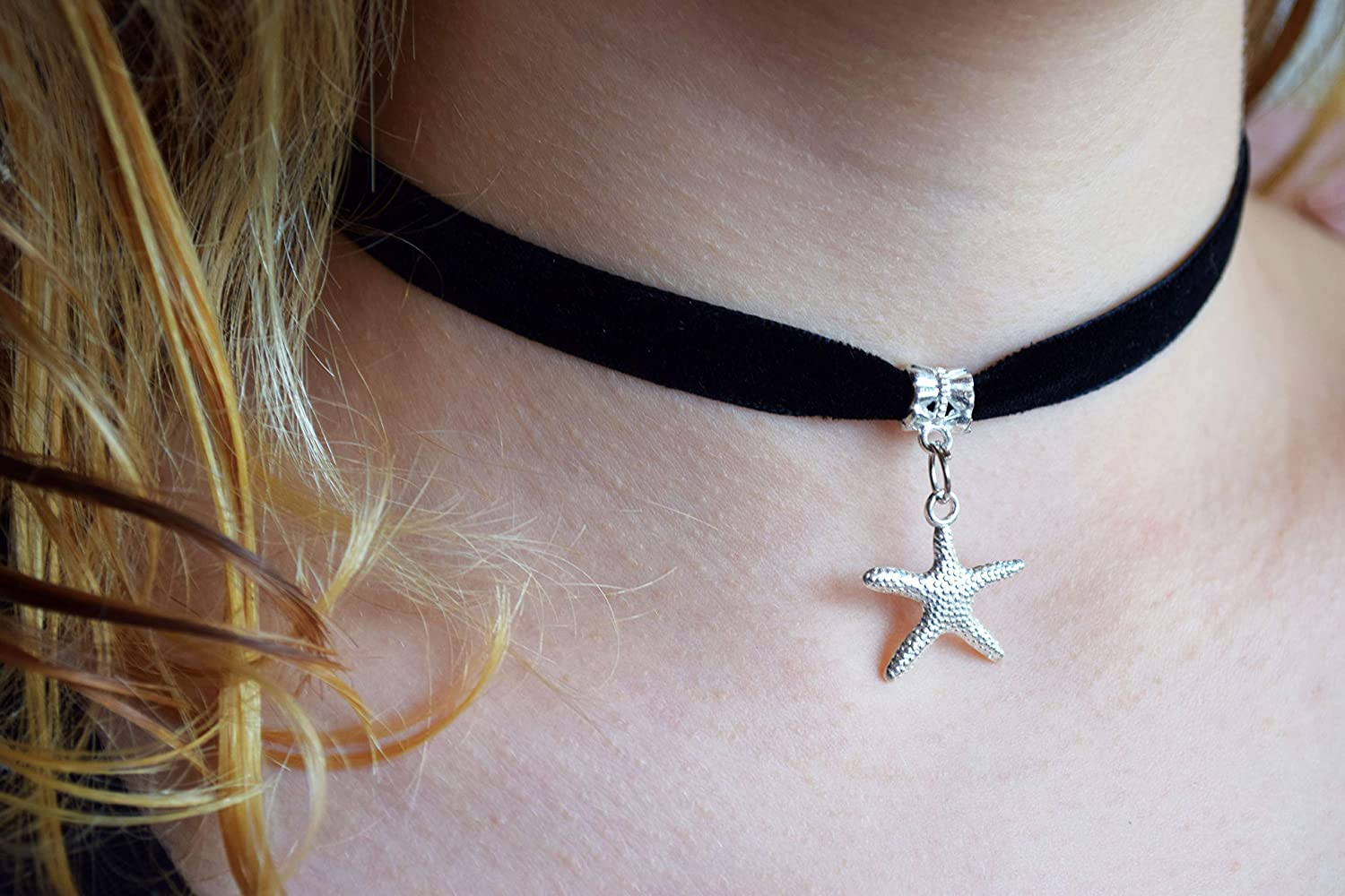 gift under 10 grunge boat necklace choker nautical black suede cord sea 90/'s jewelry Anchor choker