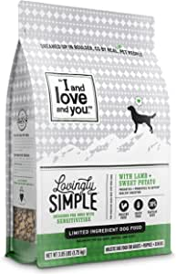 """""""I and love and you"""" Lovingly Simple Dry Dog Food - Grain Free Limited Ingredient Kibble (Variety of Flavors)"""