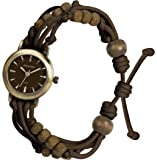 Kahuna Women's Quartz Watch with Brown Dial Analogue Display and Brown Plastic or PU Strap KLF-0008L