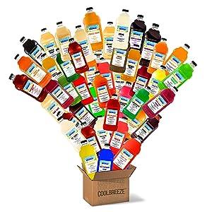 Coolbreeze Beverages [Pick Your Six Flavors] Margarita Frozen Drink Machine Granita Slush Mix / Smoothie Blends - Premium Slushie Flavor Syrups - Pick 6