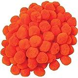 Creativity Street Pom Pons 100-Piece x 1 Inch, Orange