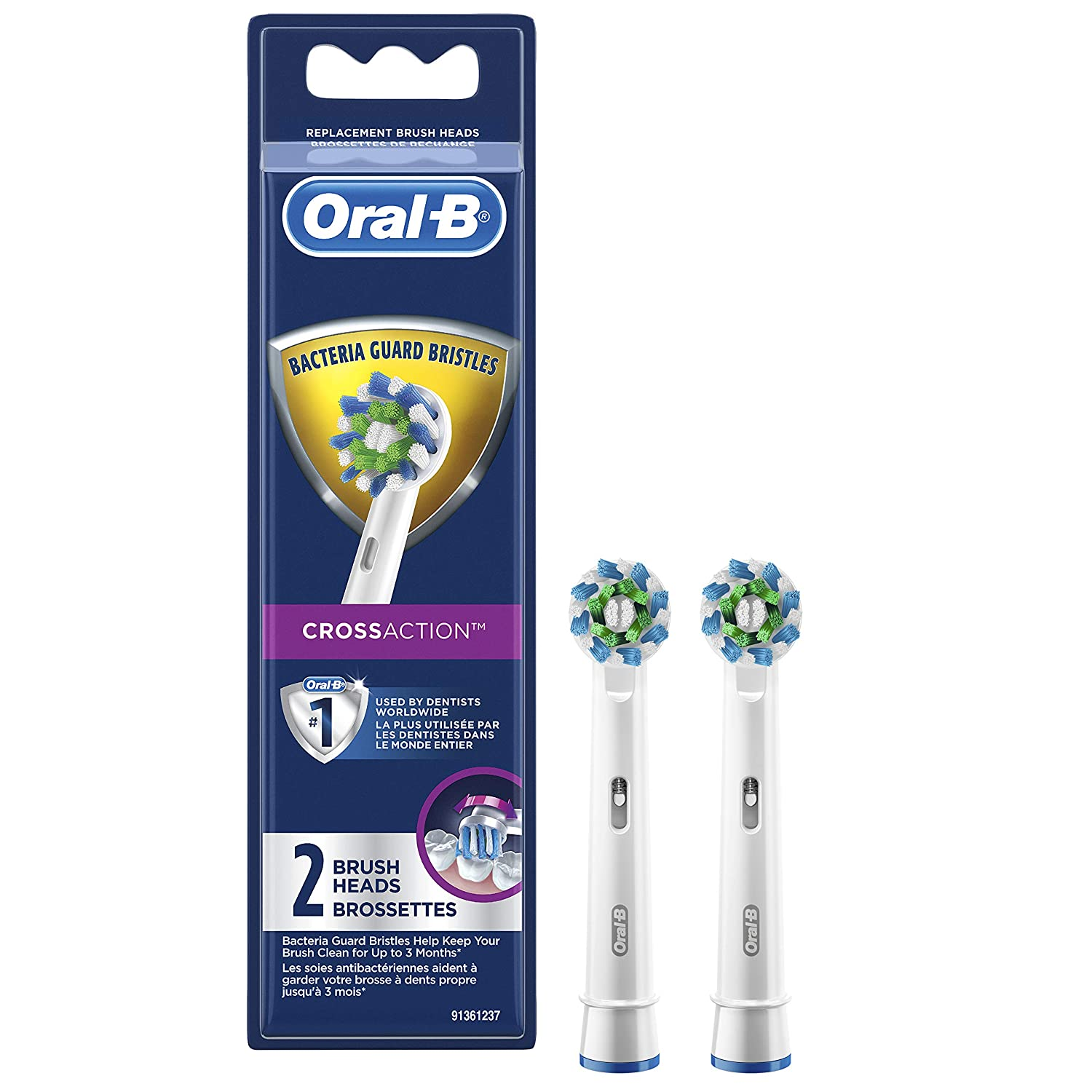 Oral-B CrossAction - Cabezal de cepillo de dientes eléctrico, 2 ...