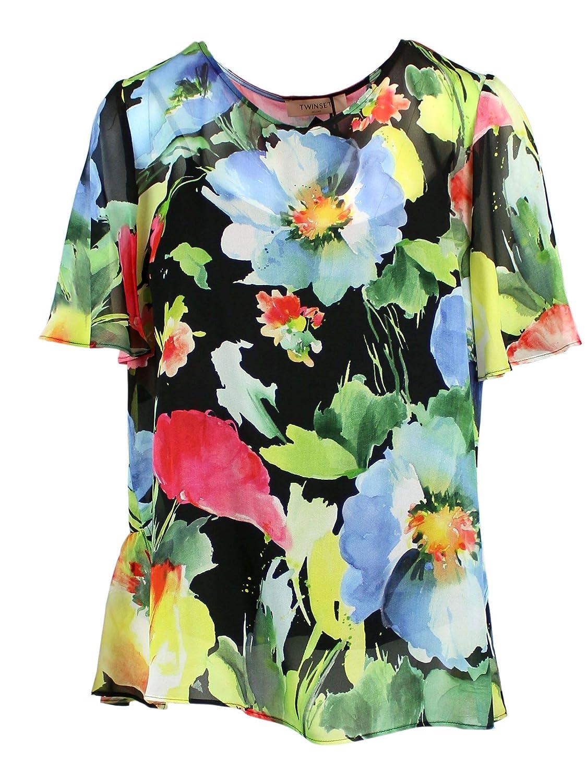 Brand Size 44 TWINSET Women's 191TT248503801 Multicolor Viscose TShirt