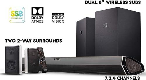 Nakamichi Shockwafe Elite 7.2.4 Ch 800W Dolby Atmos Soundbar