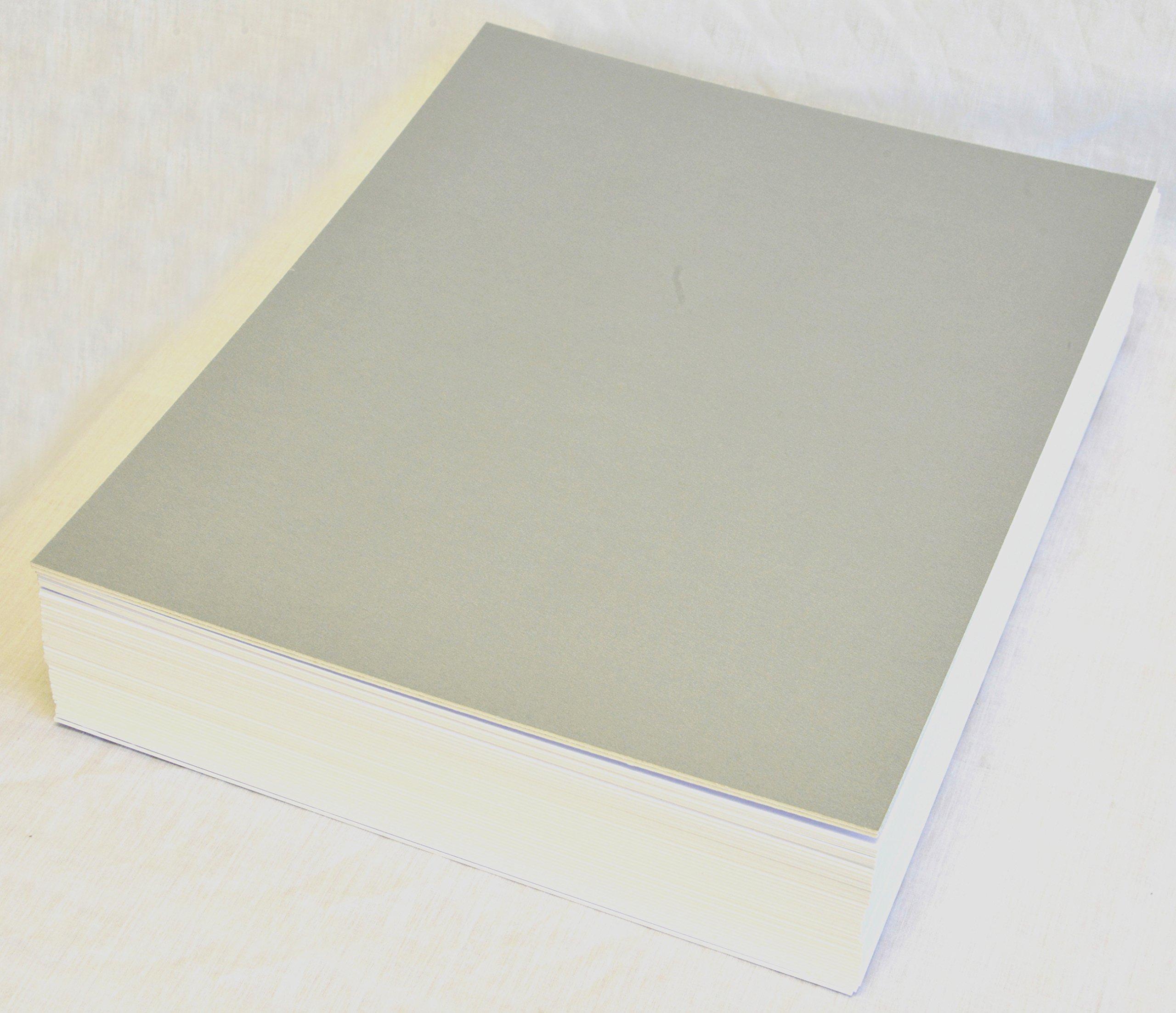 topseller100, Pack of 30 sheets 30x42 UNCUT matboard / mat boards (silver)