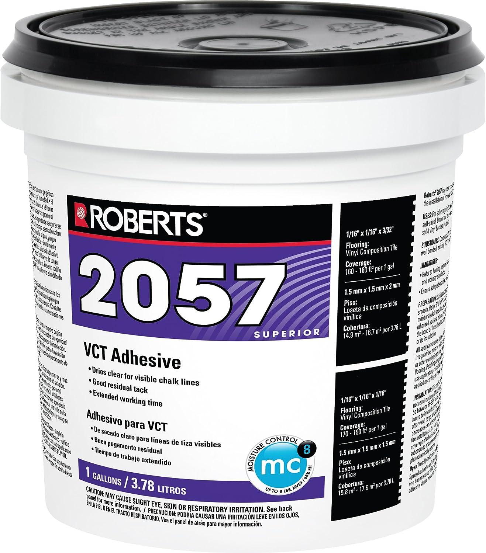 Roberts 2057-1Tile Adheres Vinyl-Composition & Vinyl-Asphalt Structurally Sound Plywood of Underlayment Quality Tile Glue, 1 Gallon