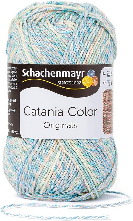 Schachenmayr Catania Color 9801780 Fil /à Tricoter /à la Main en Coton Laine Sunday Moulin/é 28 x 10 x 12 cm