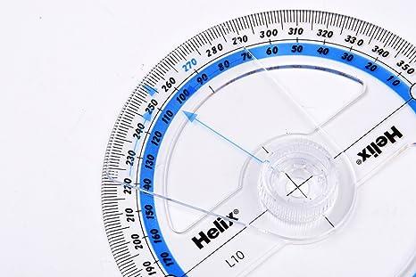 BIlinli Pl/ástico Transportador de 360 Grados Regla Buscador de /ángulo Brazo oscilante Oficina Escolar Regla de medici/ón Papeler/ía matem/ática