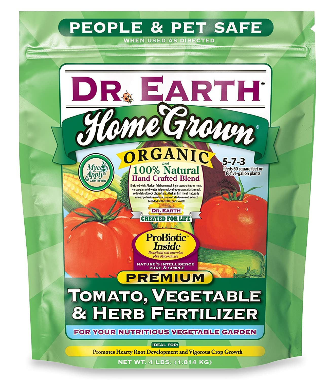 Dr. Earth- Organic Tomato, Vegetable, and Herb Fertilizer
