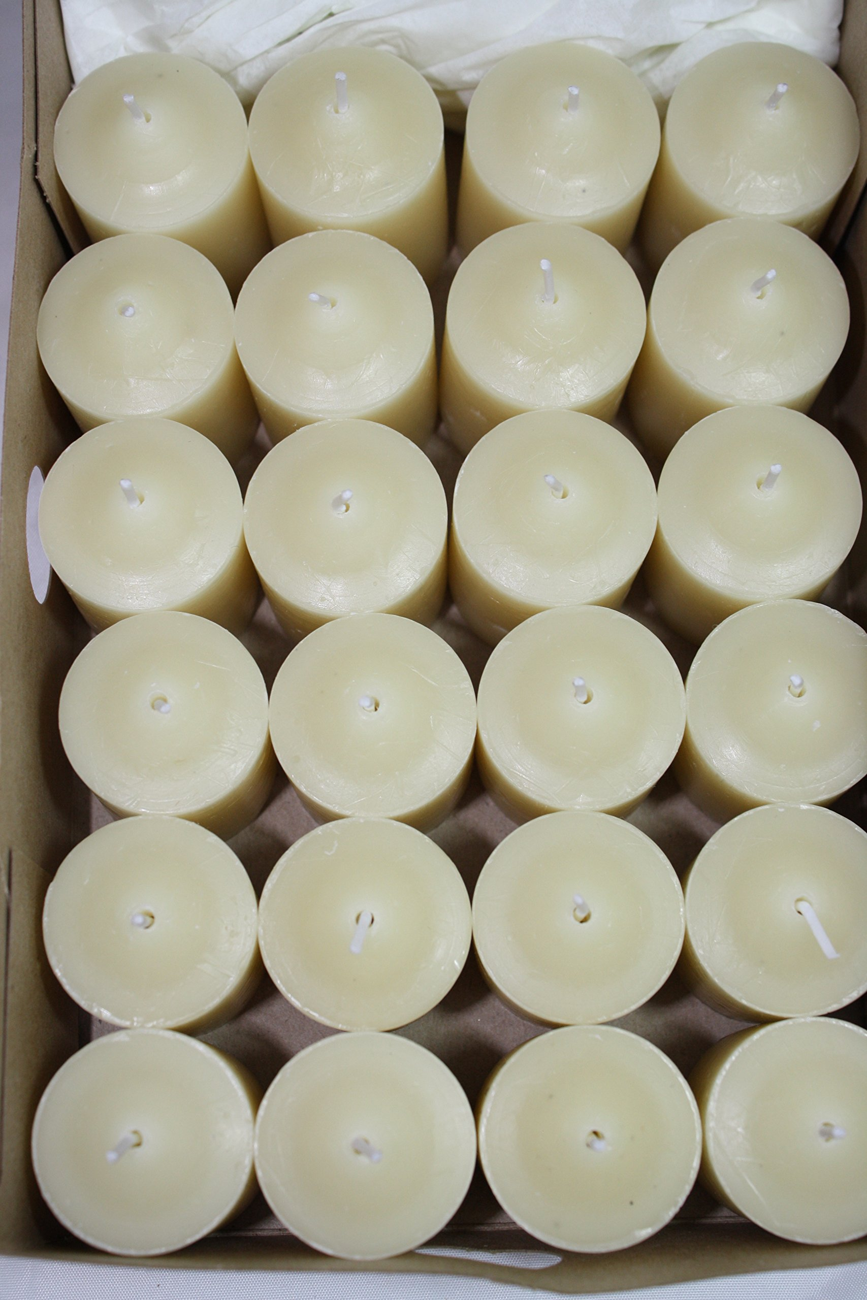 Enlightened Ambience Tibetan Sandalwood Ivory Highly Scented 24 Votives by Enlightened Ambience