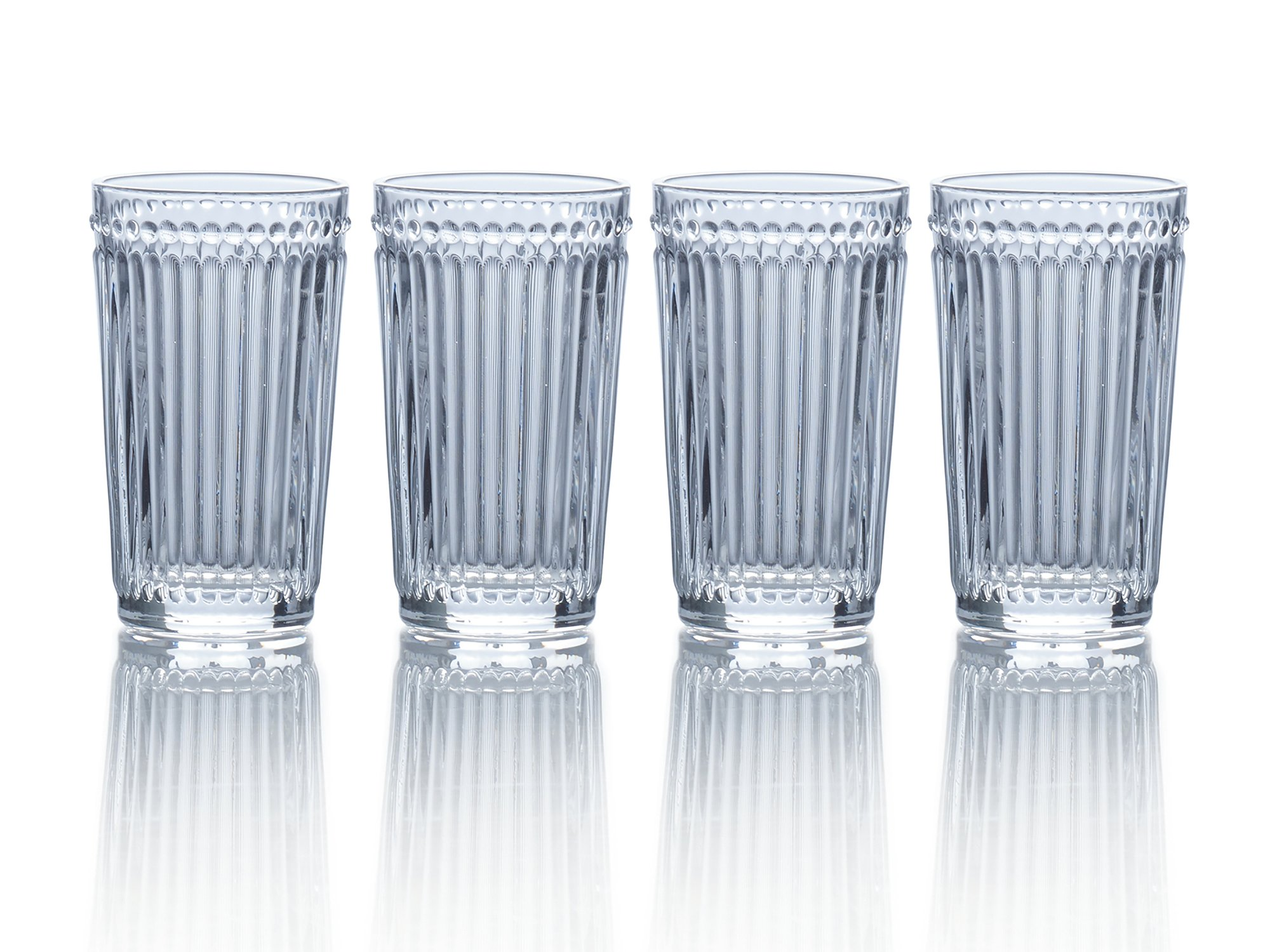 Mikasa Italian Countryside Highball Glass, Clear, 12-Ounce, Set of 4