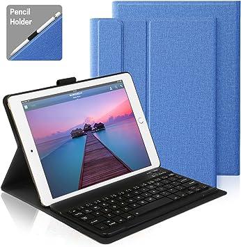 AntArt Funda Protectora de Tela con Teclado Bluetooth QWERTY Español para Apple iPad Pro 10.5, Caja de 10,5