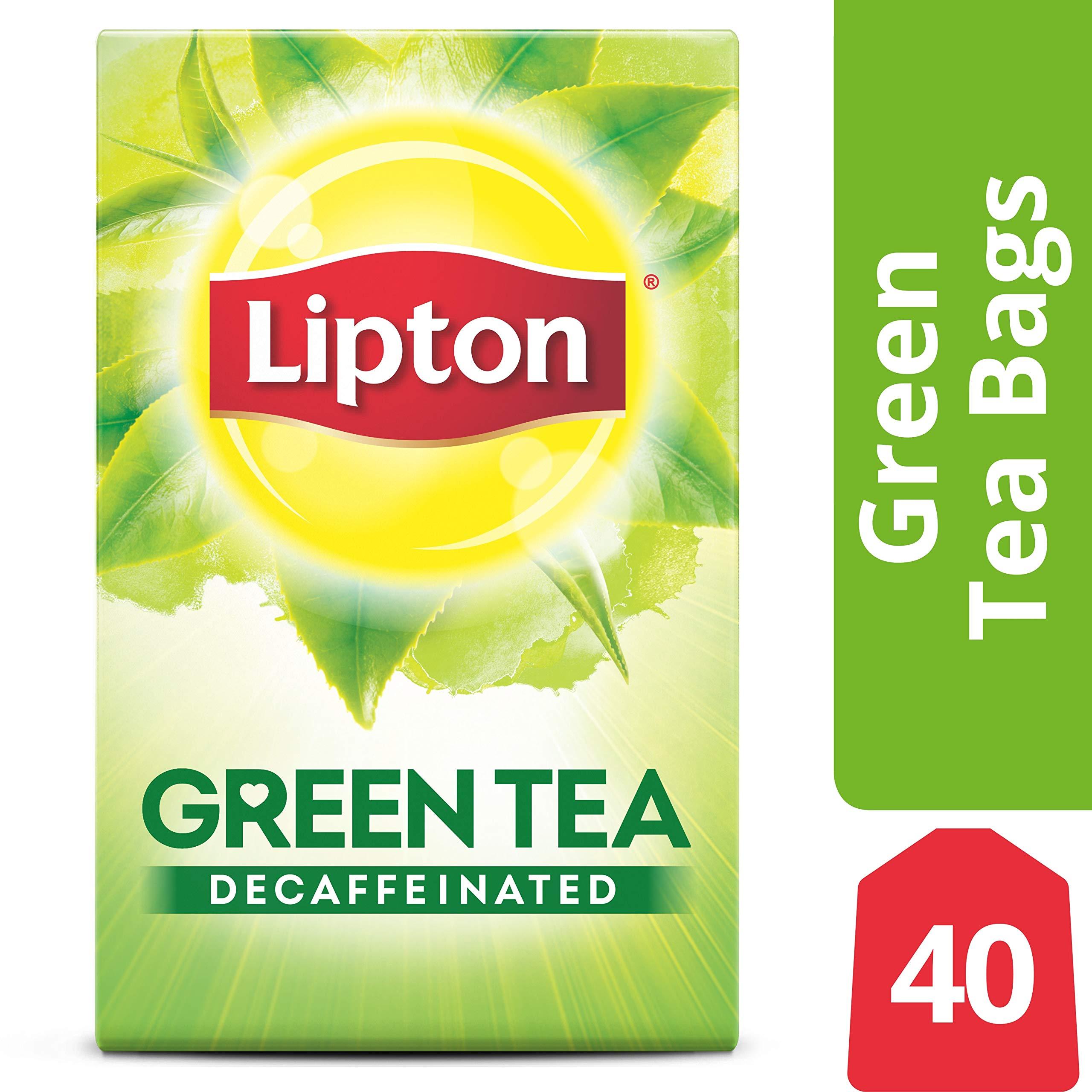 Lipton Green Tea Bags, Decaffeinated, 40 ct (pack of 6) by Lipton