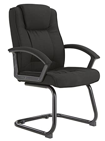 Office Hippo Amber High Back Executive Visitor Meeting Chair In Black  Fabric On Cantilever Frame